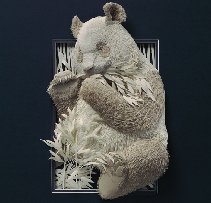 More incredible paper art. The Paper Zoo series by Calvin Nicholls.