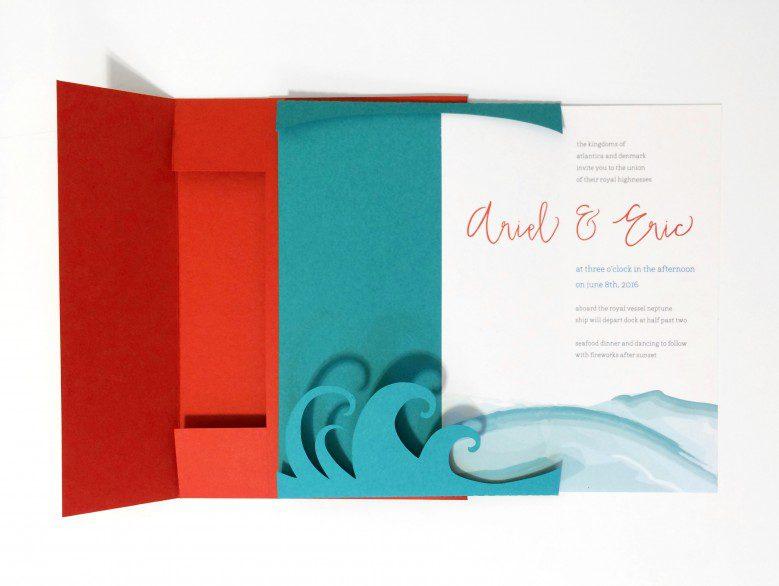 Storybook Romance: Ariel & Eric - main invite