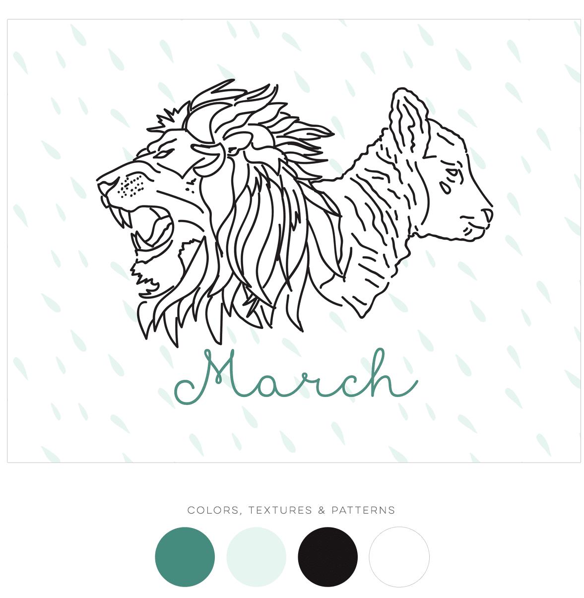 March Calendar Art
