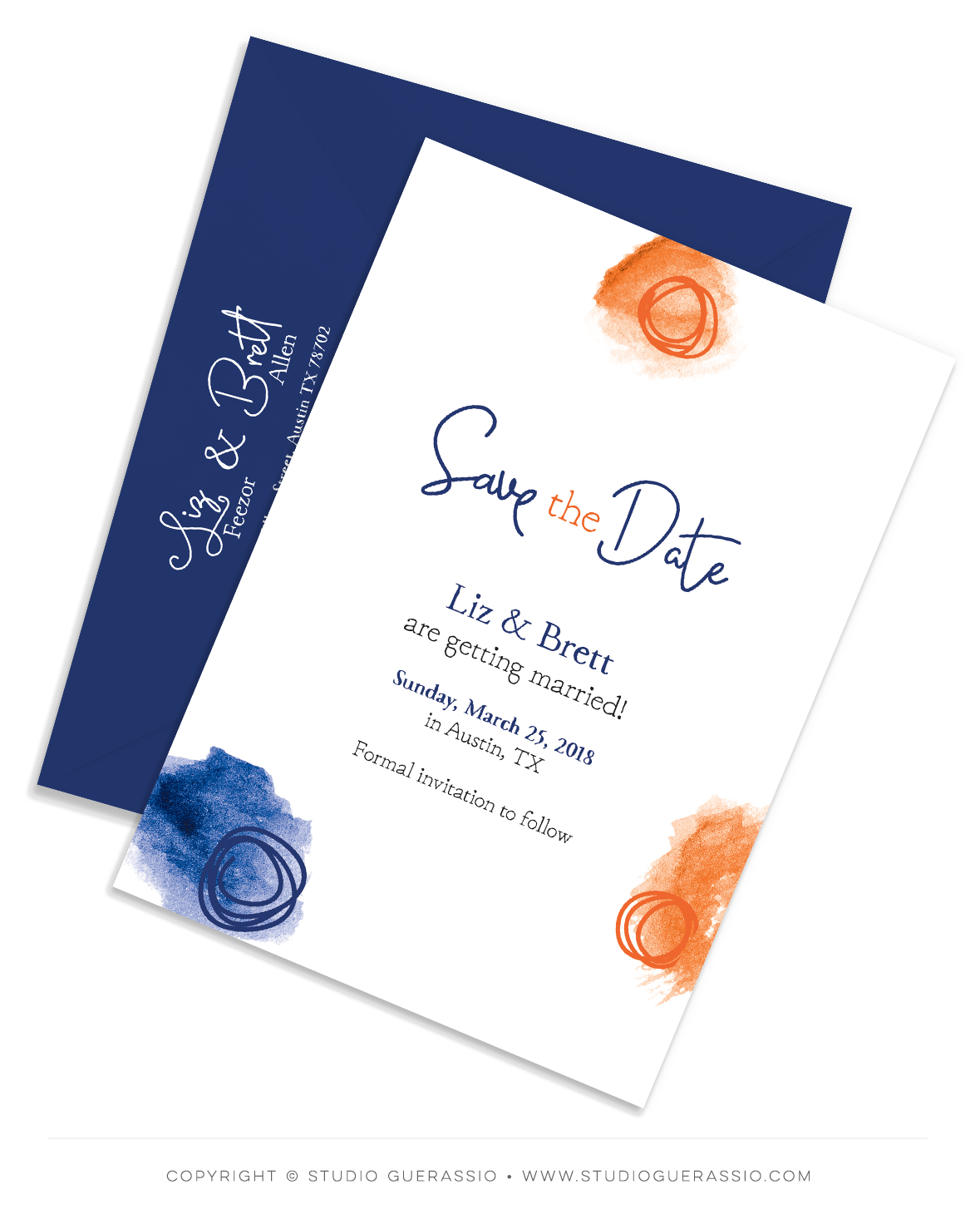 Save the Date casual spring wedding
